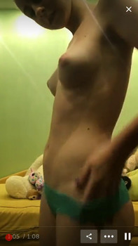 Perky Teen DP's Herself With Dildos On Tiktok