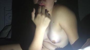 Stickam Babe Masturbate Big Dildo after Watching Porn