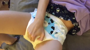 Stickam Babe sniffs her socks and feet