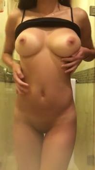 Long dildo in ass