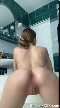Backing My Pussy onto Dildo - Bigo Live Porn