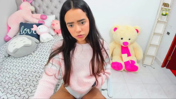 Cute Asian plays with herself - Periscope Girls