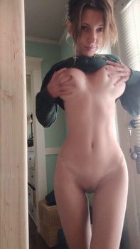 Rubbing my tight little pussy with music on Snapchat Videos
