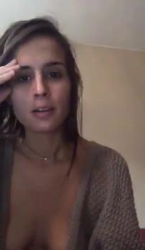 Busty brunette beauty smoking & playing - Stickam Videos