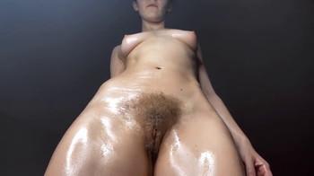 Cumming on my big black dildo on a public hiking trail - Skype Sex