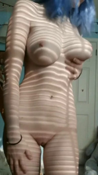Layla Black sexy blonde in pink with huge glass dildo - Stickam Videos