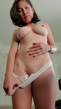 Anal Bigo Masturbation with large dildo
